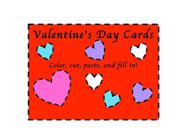 VALENTINE\'S DAY CARD TEMPLATES by Creative Luv Bug | TpT