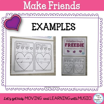 Freebie: Valentine's Day Music Class Compose a Melody for Classroom Community