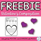 Freebie: Valentine's Day Music Class Compose a Melody for