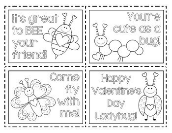 VALENTINE'S DAY CARDS (love bugs)