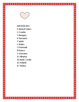 VALENTINE'S DAY CHALLENGE:Can you guess the country? See how many you get right?