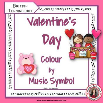 VALENTINE'S DAY MUSIC COLOUR by MUSIC SYMBOL: British Terminology