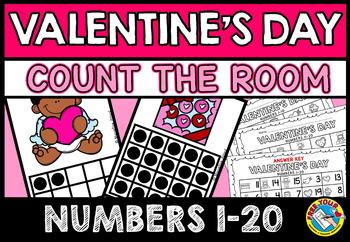 FEBRUARY ACTIVITY KINDERGARTEN (VALENTINE'S DAY COUNT THE ROOM BUNDLE)