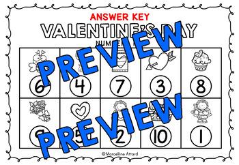 PRESCHOOL VALENTINE'S DAY ACTIVITIES KINDERGARTEN (COUNT THE ROOM) NUMBERS 1-10