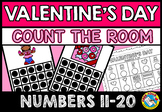 VALENTINE'S DAY ACTIVITIES KINDERGARTEN MATH COUNT THE ROOM (NUMBERS 11-20)