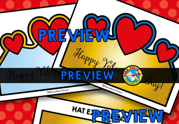 VALENTINE'S DAY CRAFT HAT (VALENTINE'S DAY CROWN TEMPLATES) FEBRUARY CRAFTS