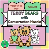 VALENTINE'S DAY Clip Art - TEDDY BEARS with CONVERSATION H