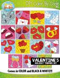 VALENTINE'S DAY Color By Code Clipart {Zip-A-Dee-Doo-Dah Designs}