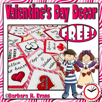 VALENTINE'S DAY DECOR: Valentine's Day Pennants, Love Messages