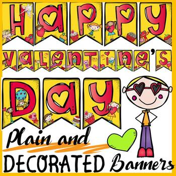 VALENTINE'S DAY DISPLAY BANNERS