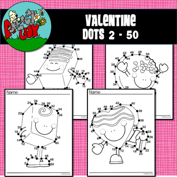VALENTINE'S DAY DOT-TO-DOT / CONNECT THE DOTS Skip Count 2 - 50