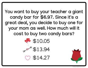 VALENTINE'S DAY Decimals WORD PROBLEM Scavenger Hunt (6th Grade Math)