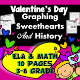 Valentine's Day Sweetheart History Reading Comprehension ELA and MATH