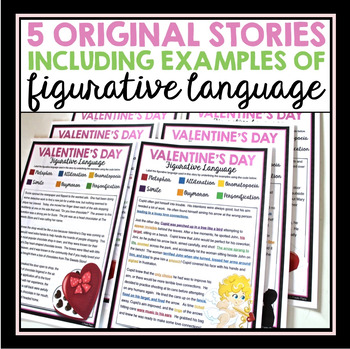 valentines day reading figurative language 5 stories