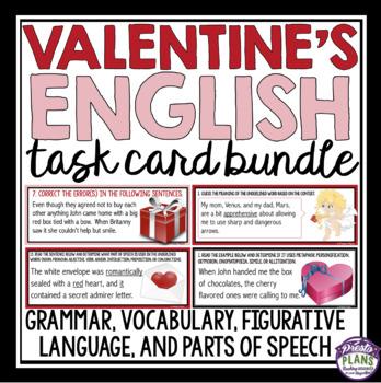 VALENTINE'S DAY GRAMMAR, PARTS OF SPEECH, FIGURATIVE LANGUAGE, & VOCABULARY