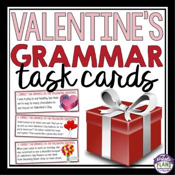 VALENTINE'S DAY GRAMMAR TASK CARDS ACTIVITY
