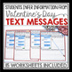 VALENTINE'S DAY INFERENCE ACTIVITY: Text Messages