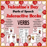 3 VALENTINE'S DAY INTERACTIVE BOOKS: VERBS- Colorful and b