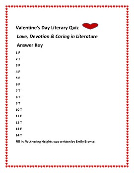 VALENTINE'S DAY LITERARY QUIZ: HOW MANY CAN YOU GUESS CORRECTLY?