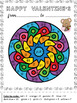 VALENTINE'S DAY -  MANDALA COLORING CARDS - COLOR BY CODE -  GRADE 2-4