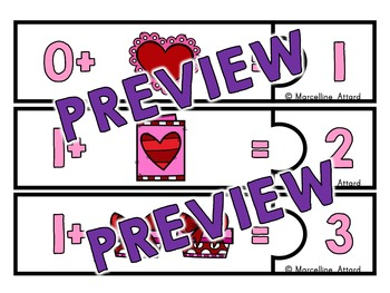VALENTINE'S DAY KINDERGARTEN MATH ADDITION COUNTING ON STRATEGY(ADDITION PUZZLES