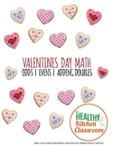 VALENTINE'S DAY MATH  | ADDING DOUBLES + ODDS & EVENS NUMBERS WORKSHEETS