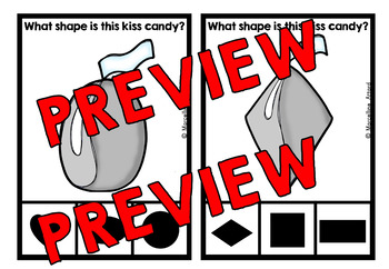 VALENTINE'S DAY ACTIVITY KINDERGARTEN (KISS CANDY SHAPES RECOGNITION CENTER)