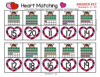 VALENTINE'S DAY MATH CENTERS - Numbers 11-20 {BUNDLE}