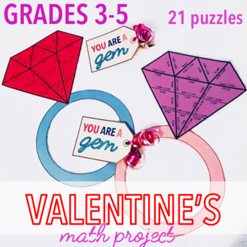 VALENTINE'S DAY MATH PROJECT - UPPER ELEMENTARY BUNDLE - RING