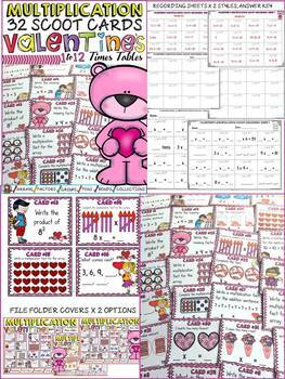 VALENTINE'S DAY SCOOT BUNDLE: ADDITION, SUBTRACTION, MULTIPLICATION, DIVISION