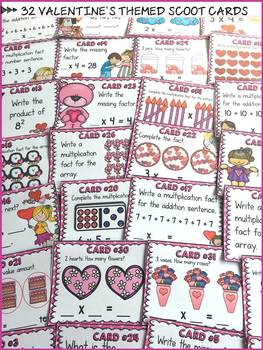 VALENTINE'S DAY: MULTIPLICATION SCOOT