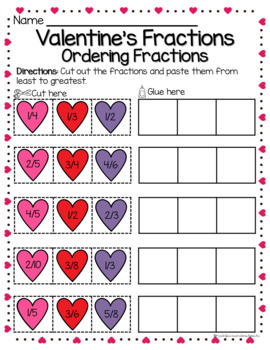VALENTINE'S DAY: NBT and Fractions Skills Review