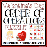 VALENTINE'S DAY ORDER OF OPERATIONS PUZZLE ACTIVITY