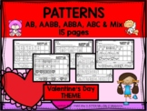 VALENTINE'S DAY PATTERNS - AB, ABC, AABB, ABBA and Mix