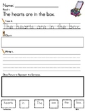 VALENTINE'S DAY PHONICS SENTENCE BUILDING ** READ.TRACE.BUILD.WRITE IT!