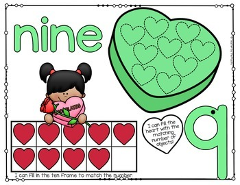 VALENTINE'S DAY Playdough – Number Mats
