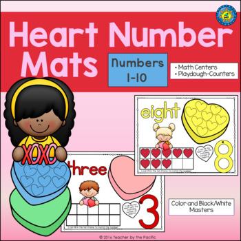 VALENTINE'S DAY Playdough – Number Mats