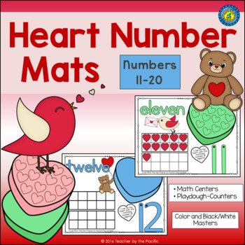 VALENTINE'S DAY Playdough – Number Mats 11-20