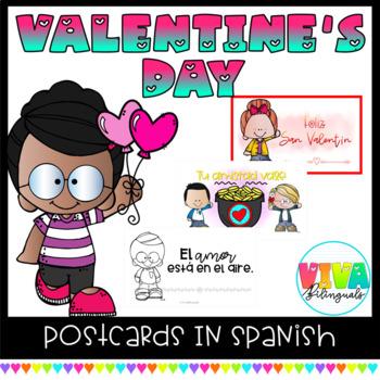 VALENTINE´S DAY Postcards in Spanish