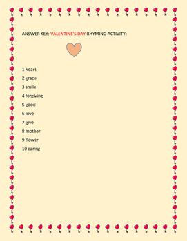 VALENTINE'S DAY RHYMING ACTIVITY: GRADES 2-5