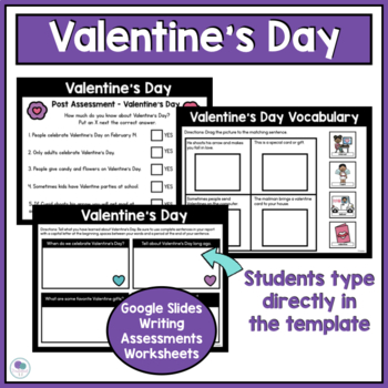 VALENTINE'S DAY - Social Studies and Writing Mini Unit