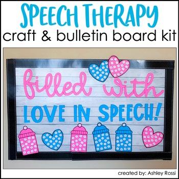 VALENTINE'S DAY Speech Therapy Craft & Bulletin Board Kit