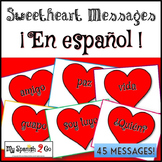VALENTINE'S DAY: Sweetheart Messages PowerPoint in Spanish