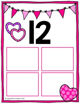 VALENTINE'S DAY TEEN NUMBERS MATH CENTERS