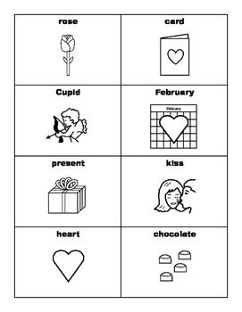 VALENTINE'S DAY Vocabulary BINGO Make & Take, SPEECH THERAPY