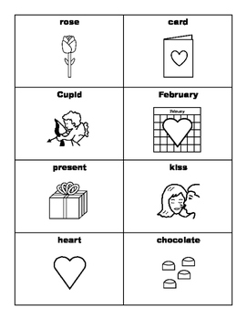 VALENTINE'S DAY Vocabulary BINGO Make & Take, SPEECH THERAPY