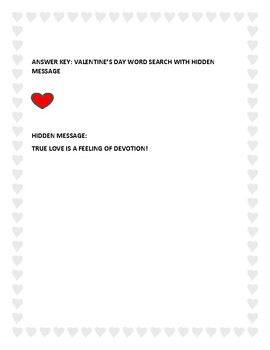 VALENTINE'S DAY WORD SEARCH WITH HIDDEN MESSAGE! CELEBRATE!