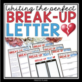 VALENTINE'S DAY WRITING: WRITING A BREAK UP LETTER OR TEXT MESSAGE