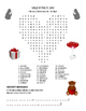 VALENTINE'S DAY Word Search Puzzle - Valentine - Early Finisher - 3 levels