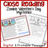 CLOSE READING PASSAGES VALENTINE'S DAY MYSTERIES READING COMPREHENSION PRACTICE